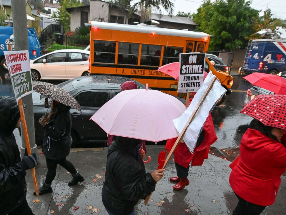 Striking teachers in LA reach tentative settlement with district