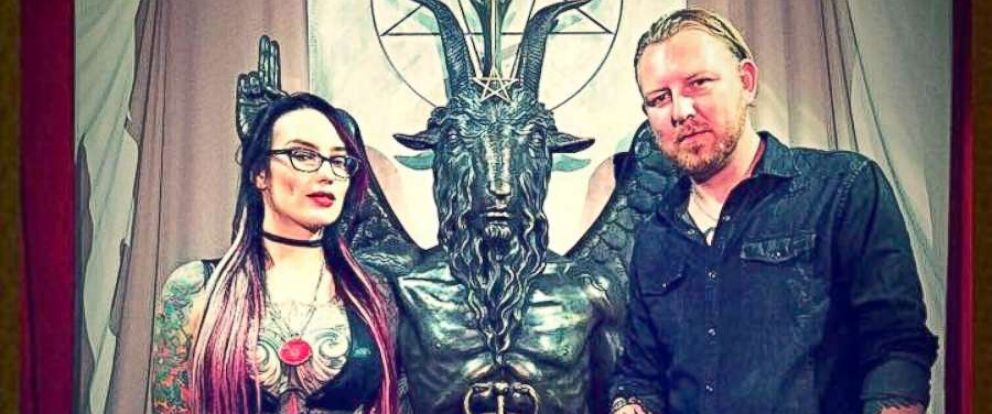 PHOTO: Attorney Stuart de Haan (R) heard of the Arizona chapter of The Satanic Temple, filed a lawsuit against the city of Scottsdale, Ariz., charging religious discrimination over being denied a request to give the invocation as a city council meeting.