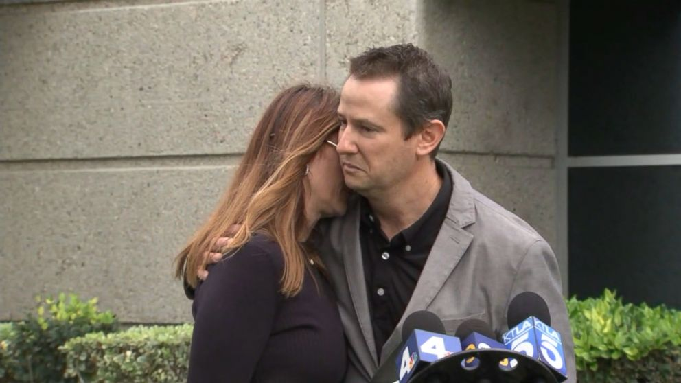 PHOTO: Blaze Bernsteins parents hug at a press conference, Jan. 10, 2018, after his body was found.   Hate crime charges added in murder of gay teen student death 1 abc er 180110 hpEmbed 2 16x9 992