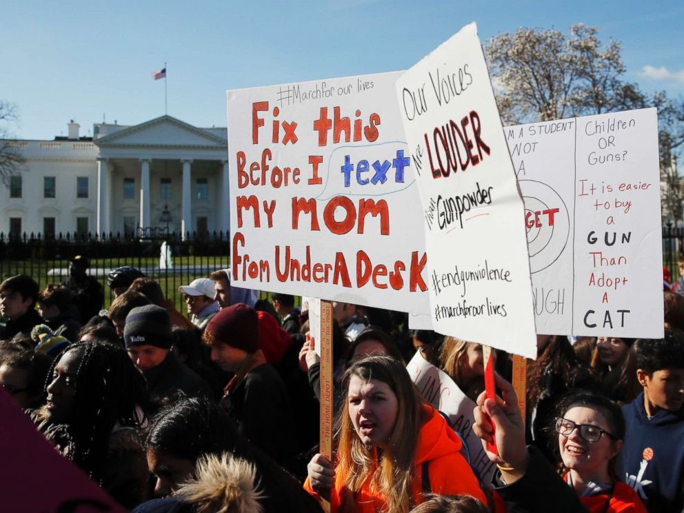 PHOTO: Students rally in front of the White House in Washington, March 14, 2018.