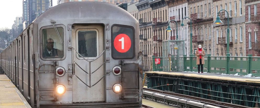 PHOTO: A 1 train pulls into the 125th Street subway station in Harlem on March 8, 2019 in this file photo in New York City.