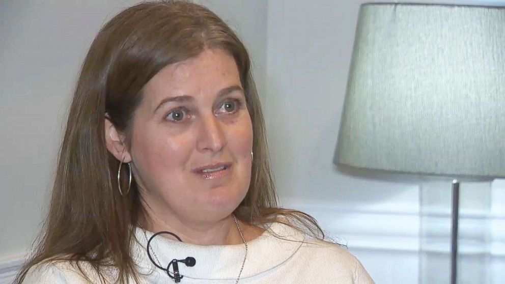 Sue Kruczek is captured in this image taken from video of her interview about her letter to President Donald Trump.