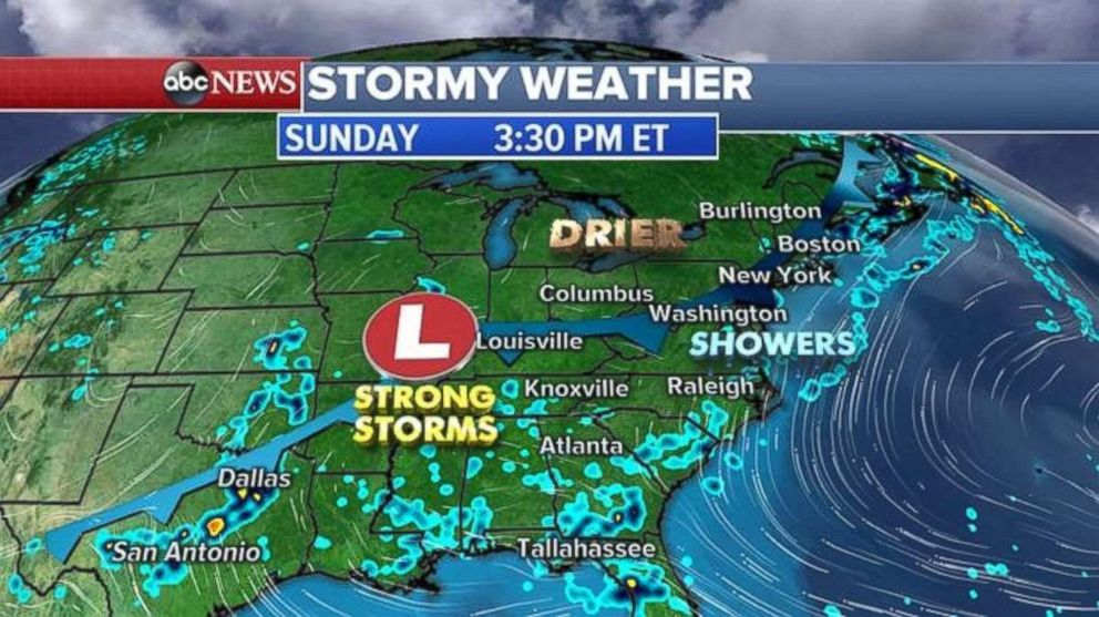 Strong Storms Are Possible Sunday Afternoon In The South