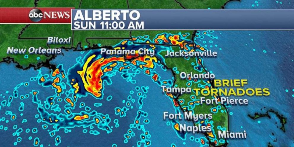 Albertos heaviest rains could lash the New Orleans area at the beginning of the week.