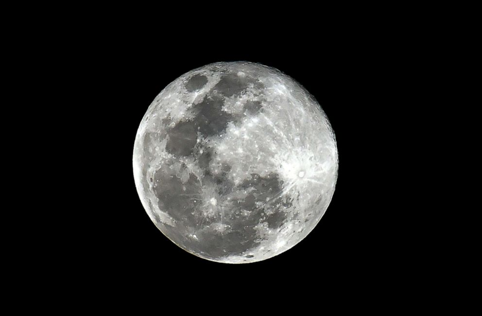 PHOTO: View of the full Moon from Mexico City, Feb. 19, 2019, the second supermoon of the year.