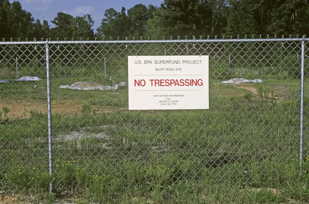 PHOTO: EPA Superfund site at Bluff Road near Columbia, South Carolina. The property had been used for waste storage.