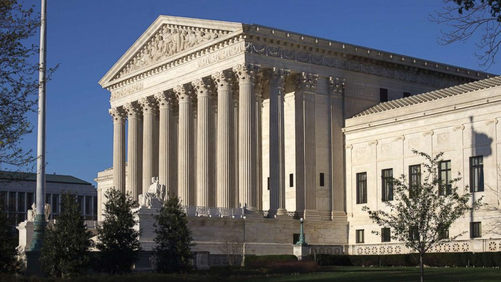 The Supreme Court Building in Washington, D.C. is pictured on April 4, 2017.