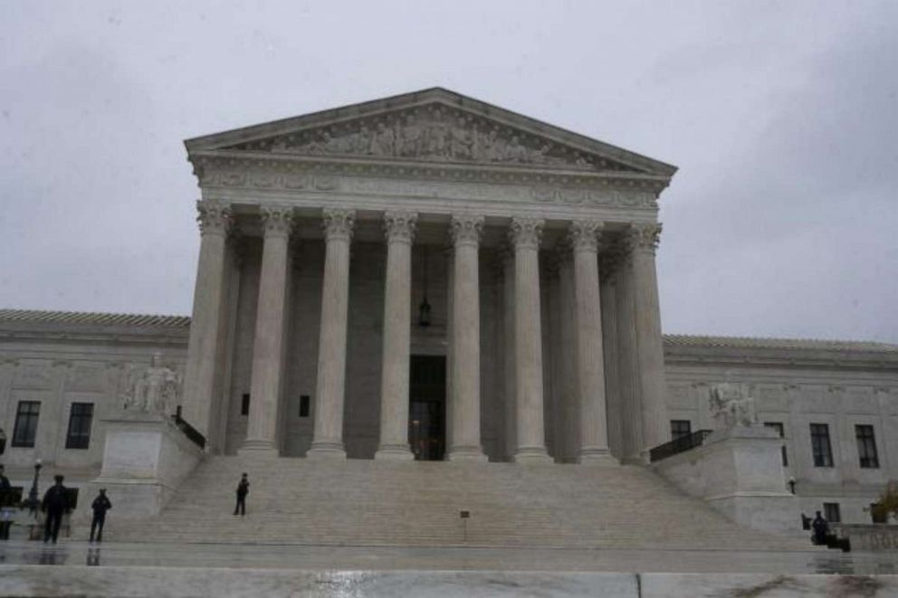 PHOTO: The Supreme Court is shown in Washington D.C.,as the court hears arguments regarding Second Amendment rights on Dec. 2, 2019.