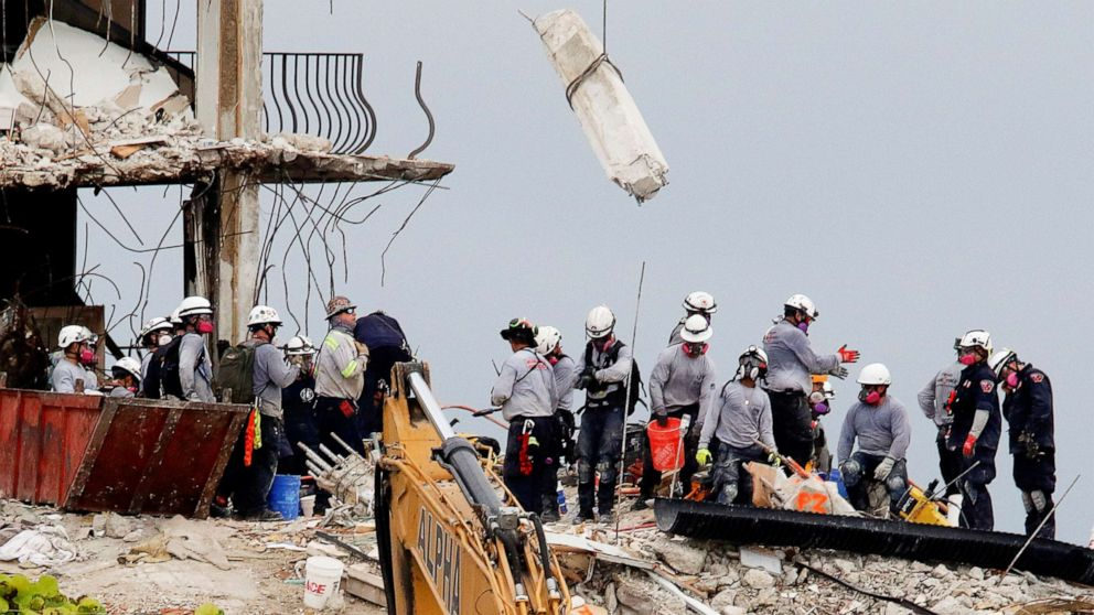 Death Toll in Surfside Condo Collapse Rises to 18