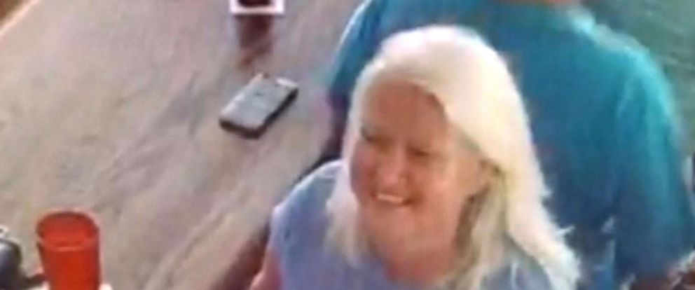 PHOTO: Pamela Hutchinson is seen here in this surveillance video released by Lee County Sheriffs Office meeting with suspect Lois Riess in Fort Myers, Fla.