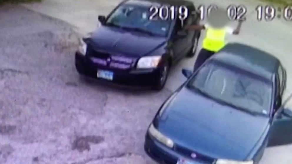 Man smashes car dwelling windows with tire iron in liquor retailer assault after car car parking lot shatter thumbnail