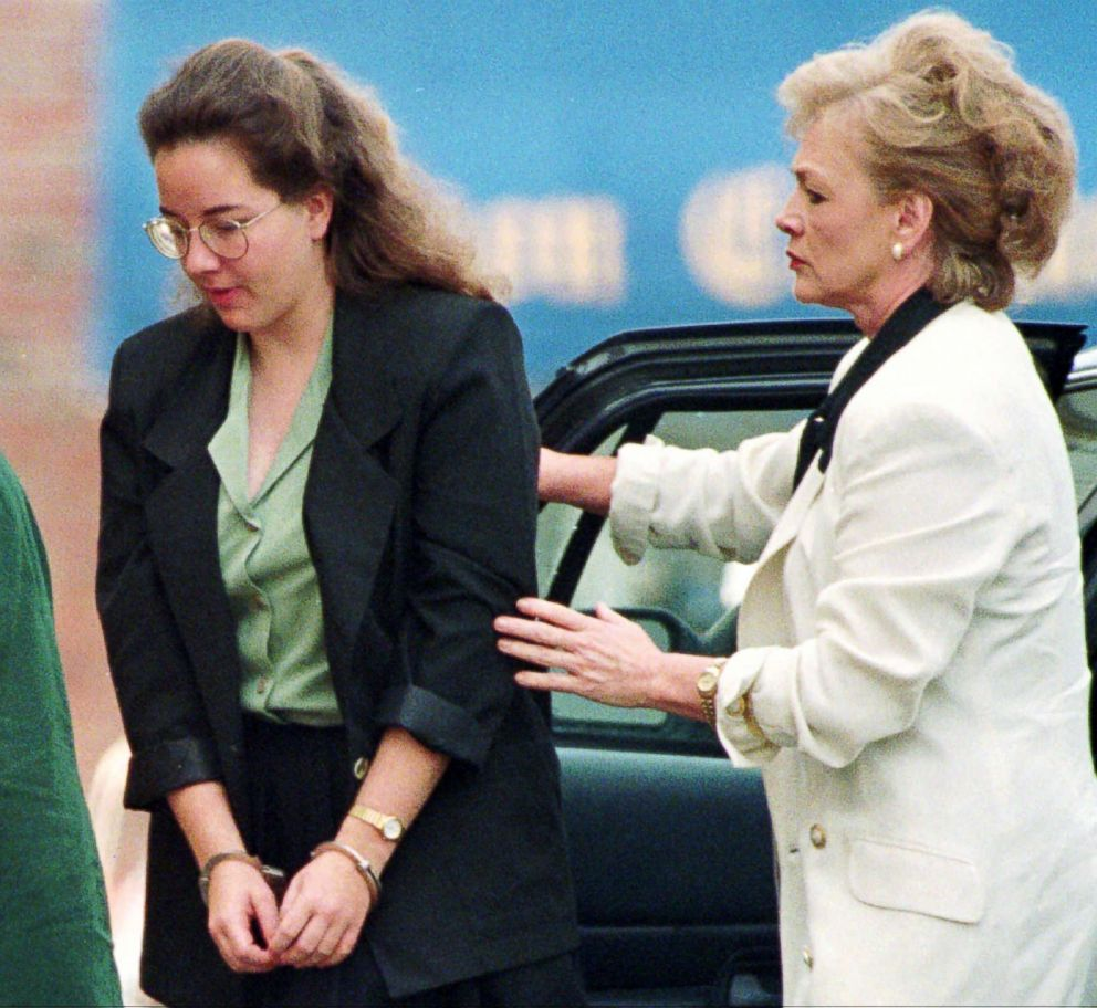 PHOTO: Susan Smith is helped out of a car as she arrives at the Union County Courthouse in Union, S.C., July 22, 1995.