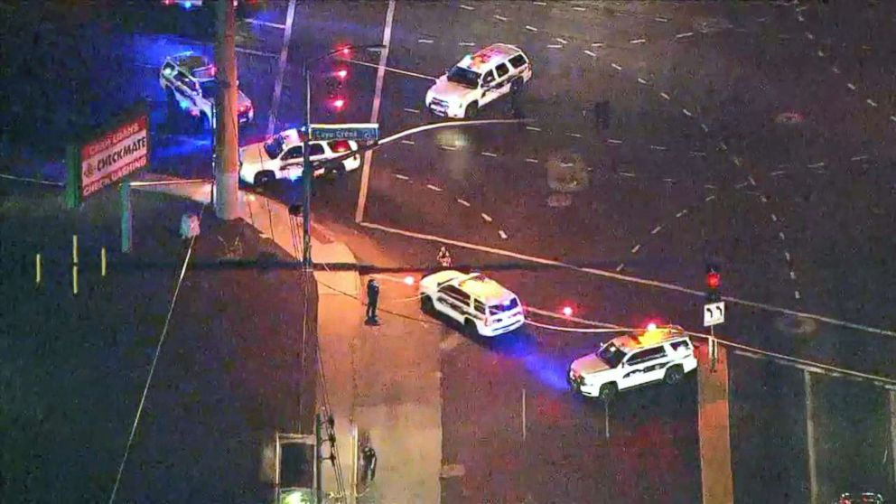 PHOTO: A police officer was shot and injured, Aug. 16, 2018, in Phoenix.