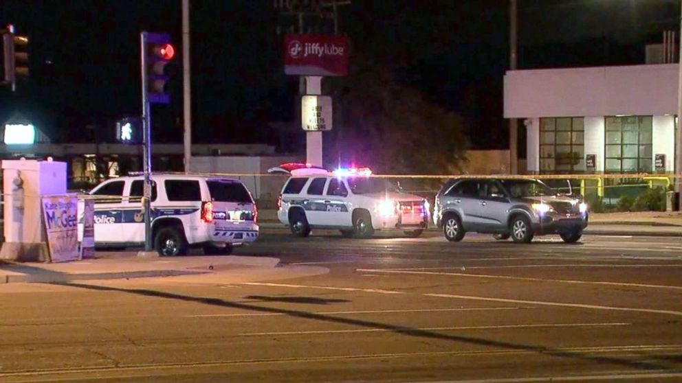 A police officer was shot and injured, Aug. 16, 2018, in Phoenix.