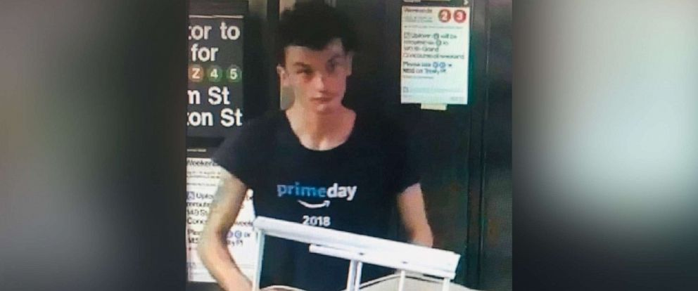PHOTO: Police are looking to locate and identify this individual wanted for questioning in regard to the suspicious items inside the Fulton Street subway station in Manhattan, Aug. 16, 2019.