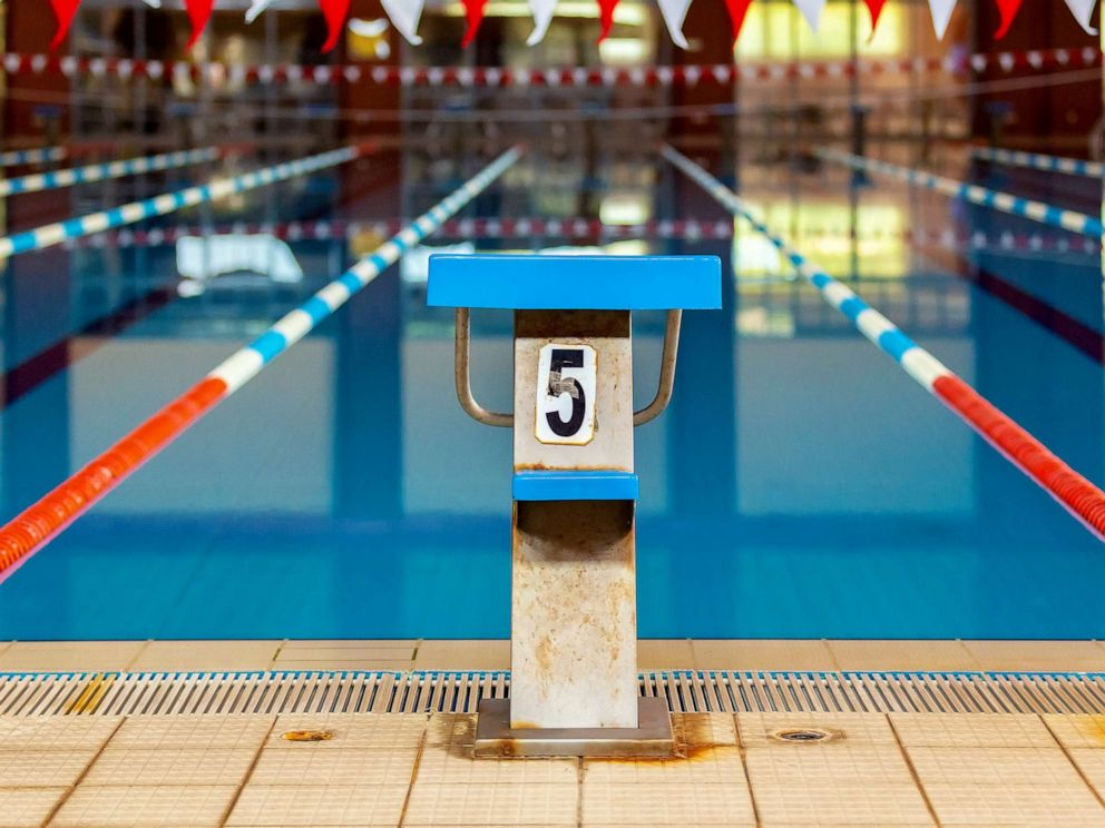 PHOTO: A swimming pool starting block is seen in this stock photo.