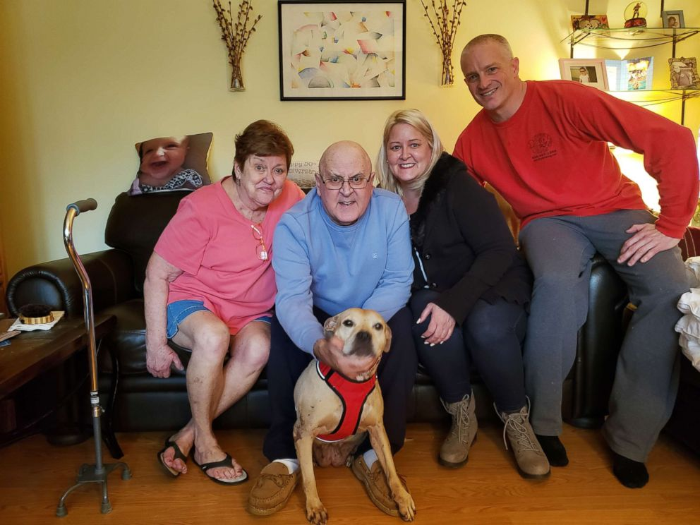 After completing the TAILS program, Cuddles is now serving as an emotional support dog to 73-year-old  Billy Brauer of Cornwall, N.J.