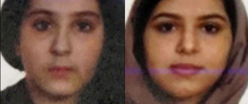 PHOTO: Tala Farea and Rotana Farea are seen in these undated photos released by the New York Police Department.
