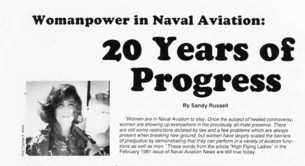 PHOTO: Pilot Tammie J. Shults is pictured in a photograph used in a 1992 issue of the military magazine, Naval Aviation News.