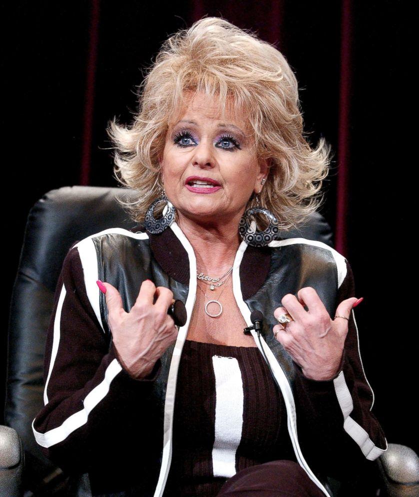 PHOTO: Tammy Faye Bakker Messner speaks at a press conference in Universal City, Calif., Jan. 14, 2005.