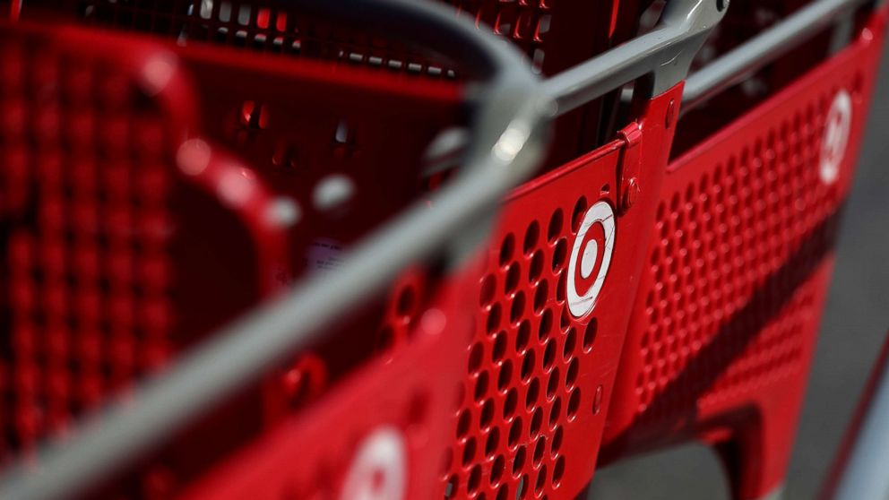 The Target logo is displayed on shopping carts at a Target store, Feb. 28, 2017, in Southgate, Calif.