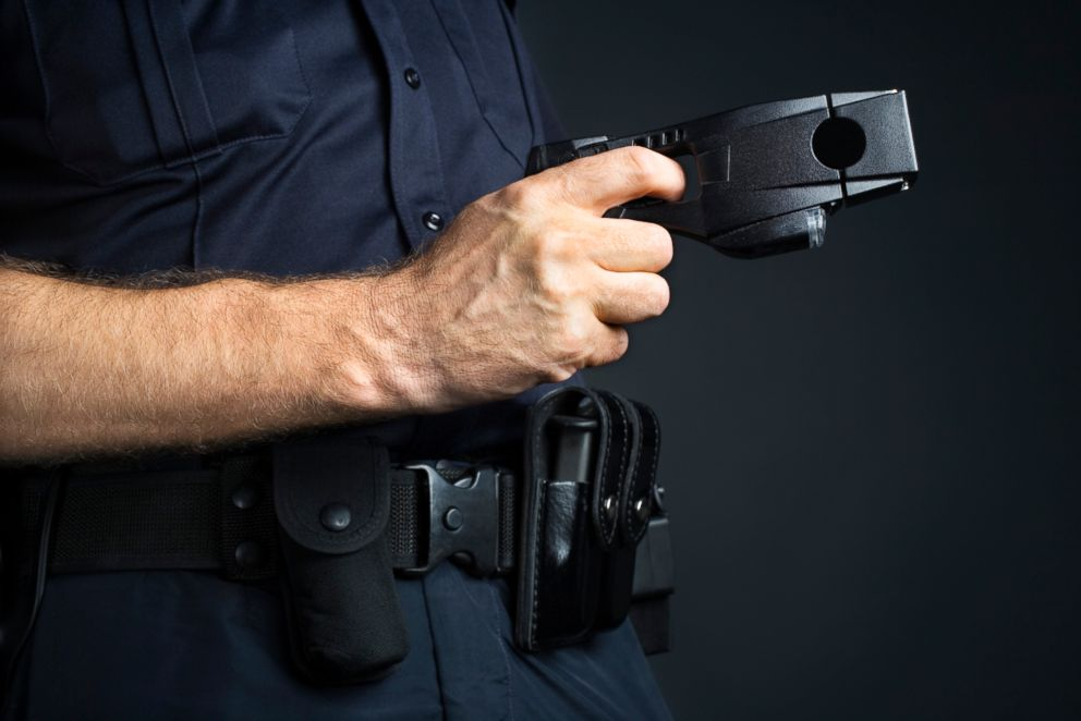 A taser gun is pictured in this undated stock photo.