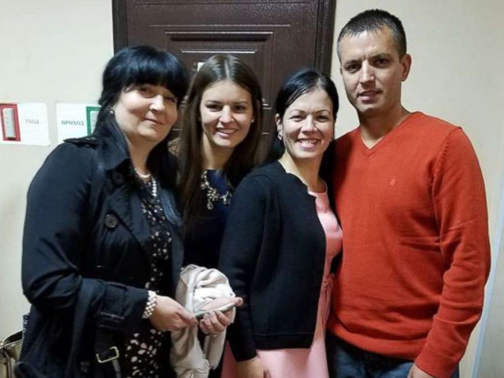 PHOTO: Pictured (L-R) are Tatyanna Muradyan, Victoria Tereschuk, Valentina Suman and Anatoliy Lashtur in October 2017.