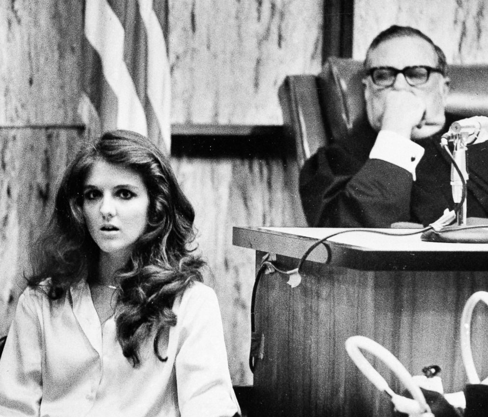 PHOTO: Carol DaRonch testifies at a pre-sentencing hearing for convicted murderer Ted Bundy as Judge Edward Cowart looks on in Miami, July. 28, 1979.