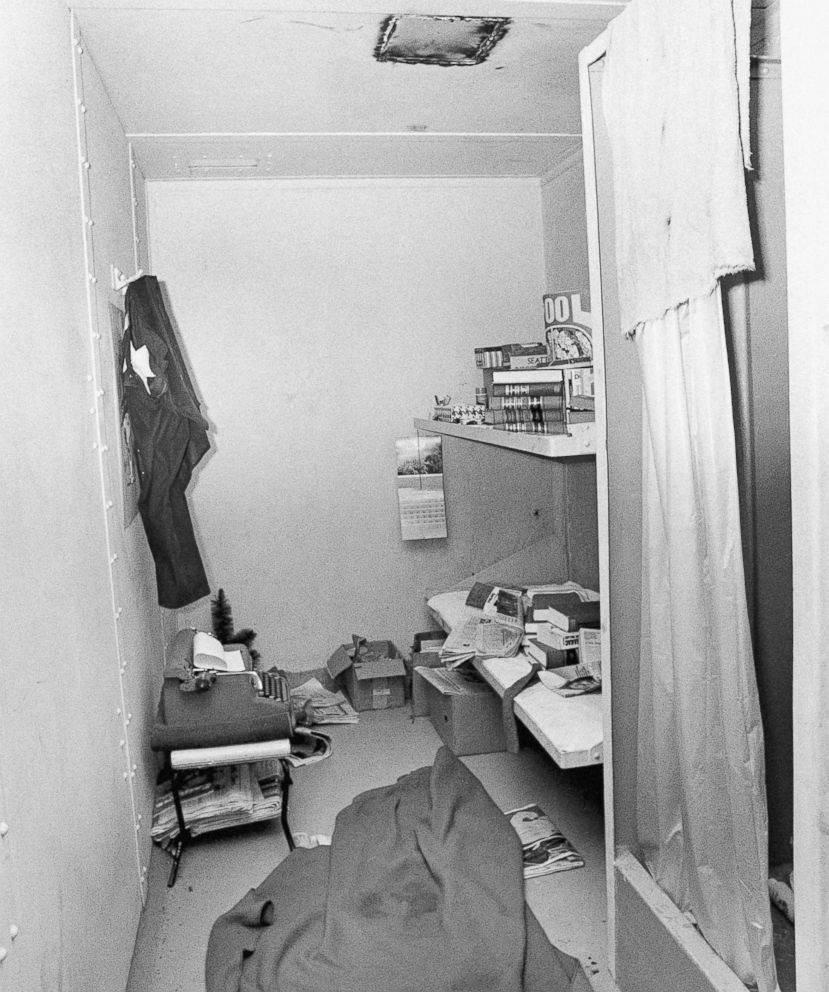 PHOTO: This 1977 file photo shows the jail cell from which serial killer Ted Bundy escaped on Dec. 30, 1977, in Glenwood Springs, Colo.