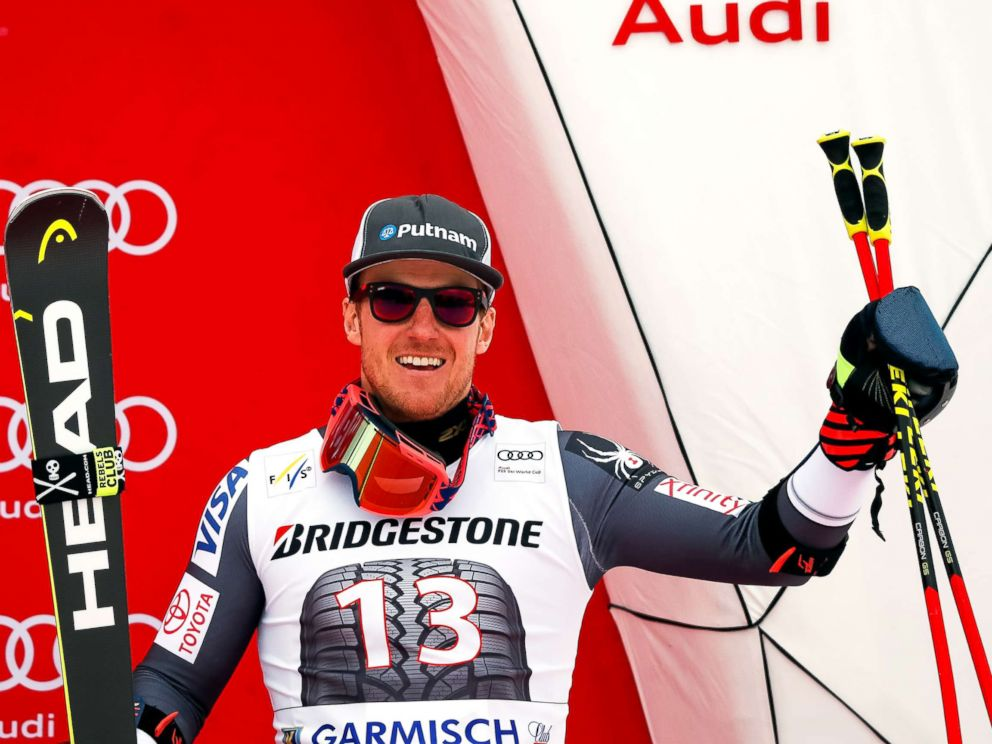 PHOTO: Ted Ligety takes 3rd place during the Audi FIS Alpine Ski World Cup Mens Giant Slalom on Jan. 28, 2018, in Garmisch-Partenkirchen, Germany.