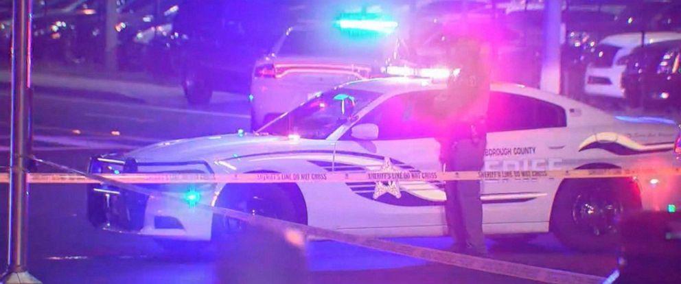 PHOTO: Police at the scene where Josiah Pinner was run over by Hillsborough County Sheriffs Deputy Philip Montesi.