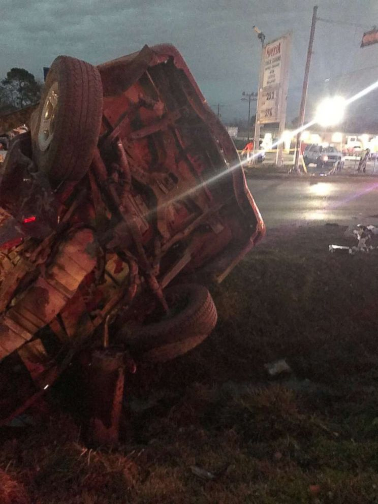 PHOTO: One person was killed when a 14-year-old driver crashed into her vehicle in Houston on Tuesday, January 1, 2019.