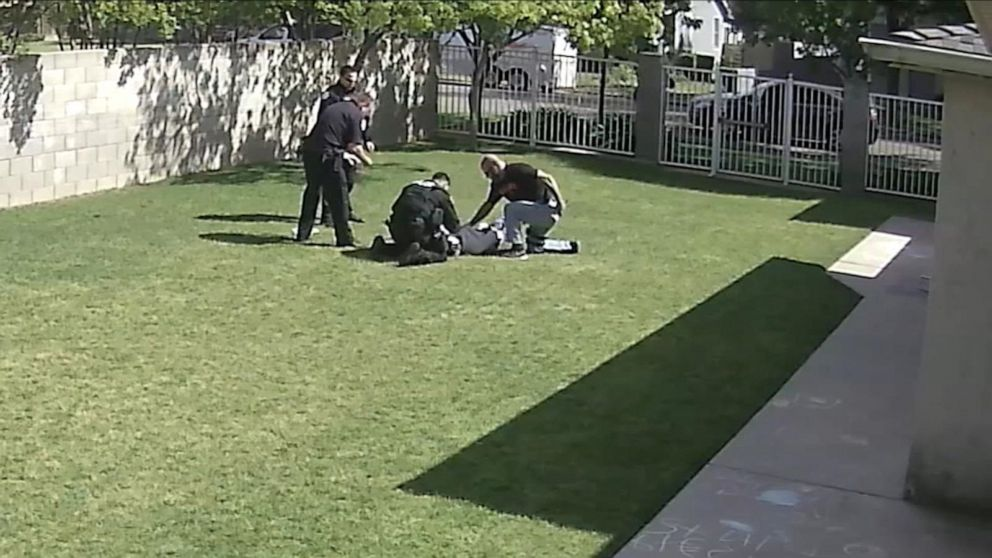 PHOTO: In this screen grab from a video acquired by KFSN, 16-year-old Isiah Murrietta-Golding is shown after being shot by a police officer in Fresno, Calif.