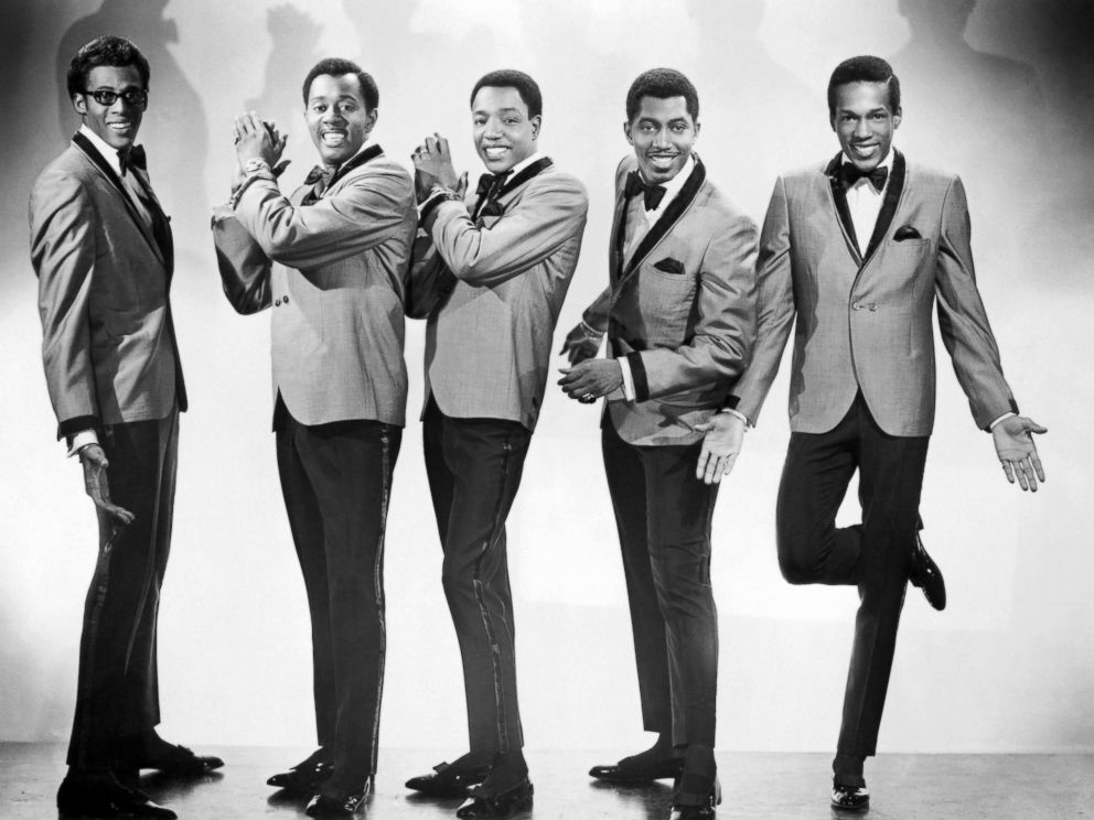 PHOTO: David Ruffin, Melvin Franklin, Paul Williams, Otis Williams and Eddie Kendricks of the R&B group The Temptations pose for a portrait in 1965 in New York City