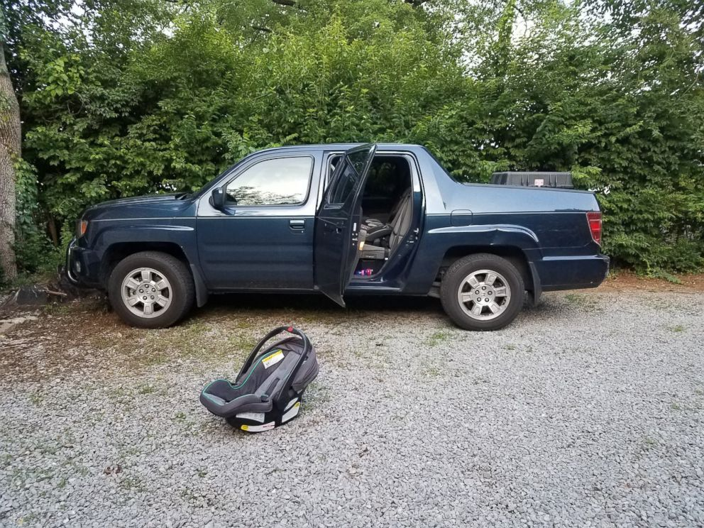 PHOTO: A 1-year-old girl died after being left in a car seat all day in a pickup truck in East Nashville, May 23, 2018.