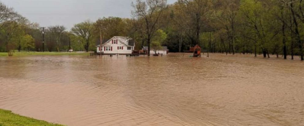 Nashville, Tennessee, saw plenty of flooding issues after 2 to 3 inches of rain fell on Monday, April 23, 2018.
