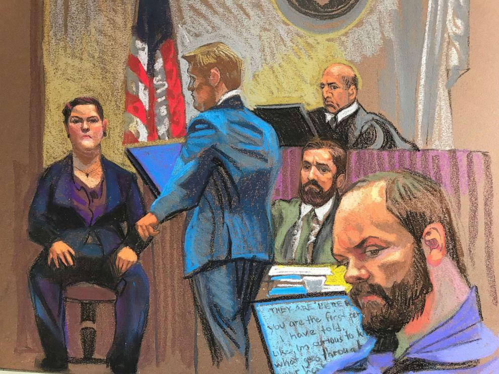 PHOTO: Terra Bullis, ex-girlfriend of Brendt Christensen, testifies for the prosecution.
