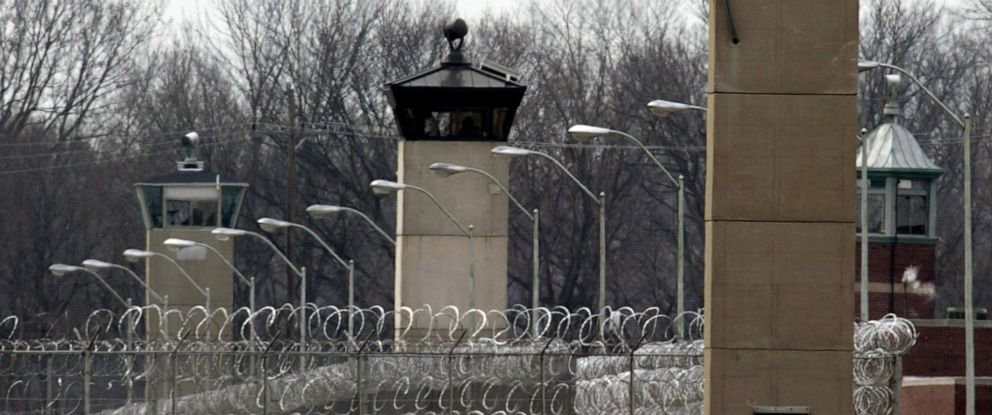PHOTO: Shown in this file photo, guard towers and razor wire ring the compound at the U.S. Penitentiary in Terre Haute, Ind., March 17, 2003.
