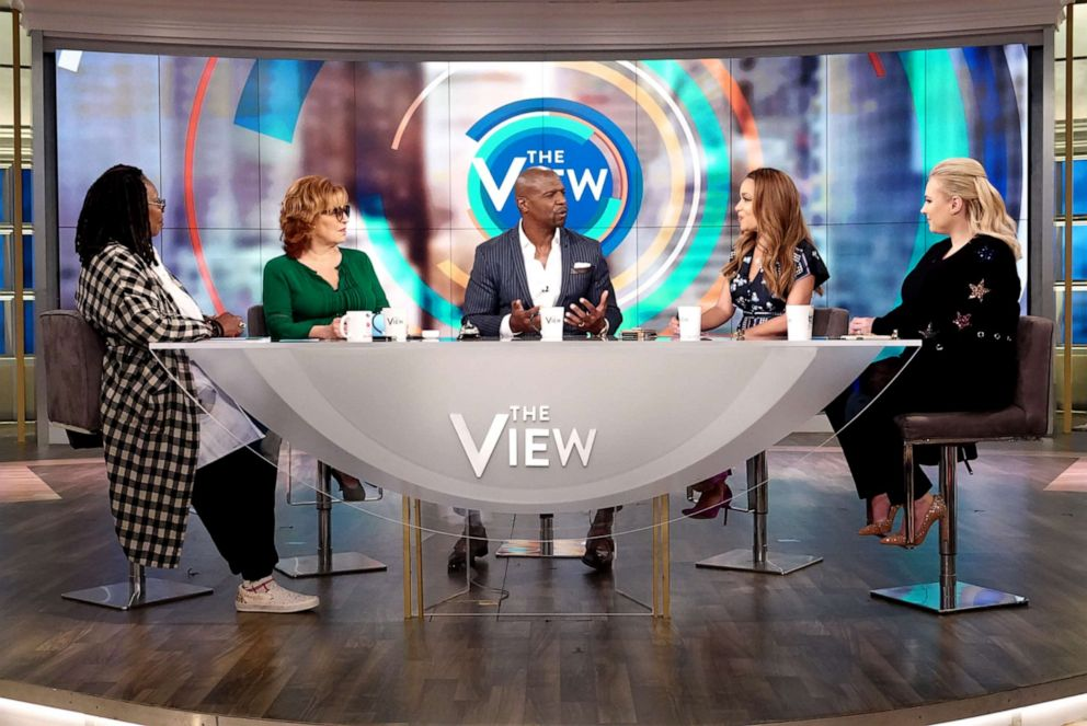 PHOTO: Terry Crews shares the secret to his successful marriage with The View co-hosts Whoopi Goldberg, Joy Behar, Sunny Hostin, and Meghan McCain, June 26, 2019.
