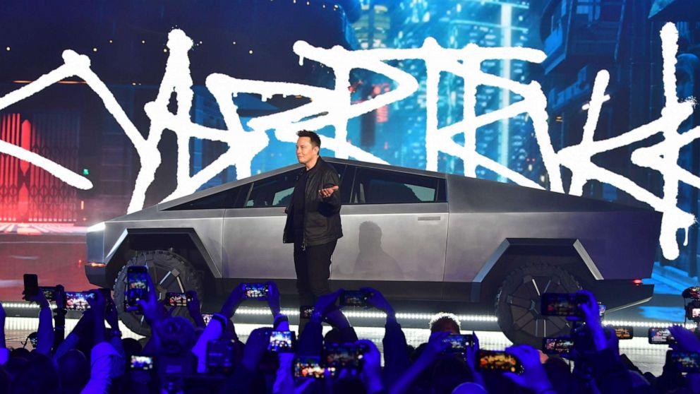Tesla Debüts futuristische neue Elektro-pickup Cybertruck Applaus und Spott