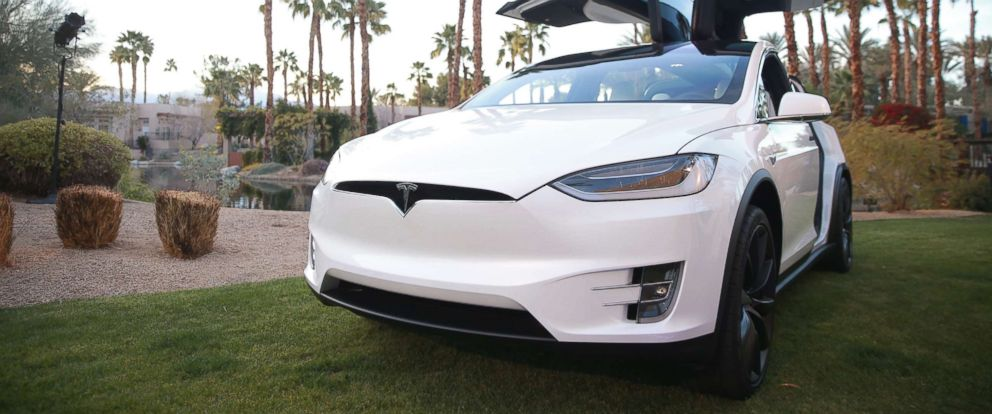PHOTO: A Tesla Model X is displayed during the Citi Taste of Tennis at Hyatt Regency Indian Wells Resort & Spa on March 5, 2018 in Indian Wells, Calif.