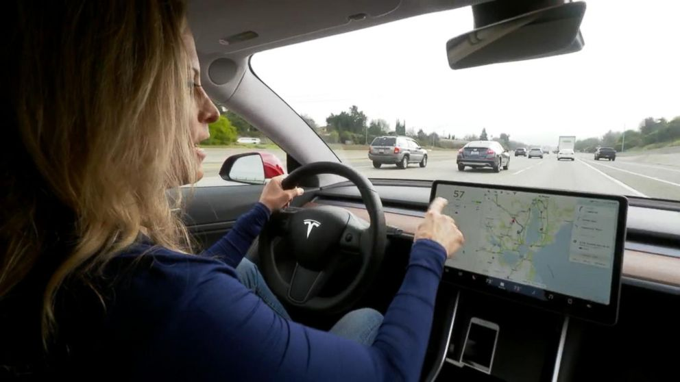 ABC News' Becky Worley test-drives the Tesla Model 3, which is the company's first foray into mass-market cars.