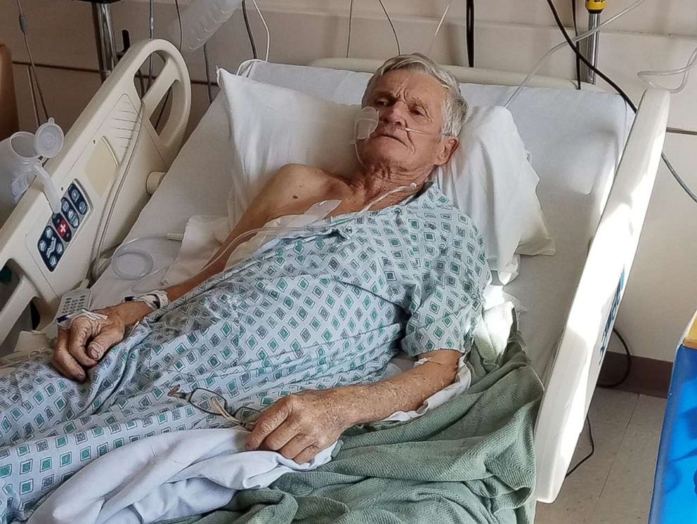 PHOTO: Tex Gilligan, 74, of New Mexico is treated at the University Medical Center of El Paso in Texas after he was shot when his dog accidentally triggered a gun in the back of his pickup truck while on a hunting trip in the desert near Las Cruces.