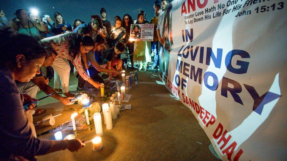 'American hero': Slain Sikh deputy remembered at emotional vigil