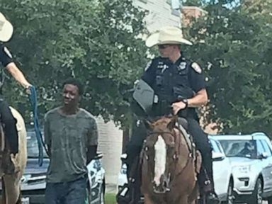 No criminal investigation for Texas police who led a black man by a rope