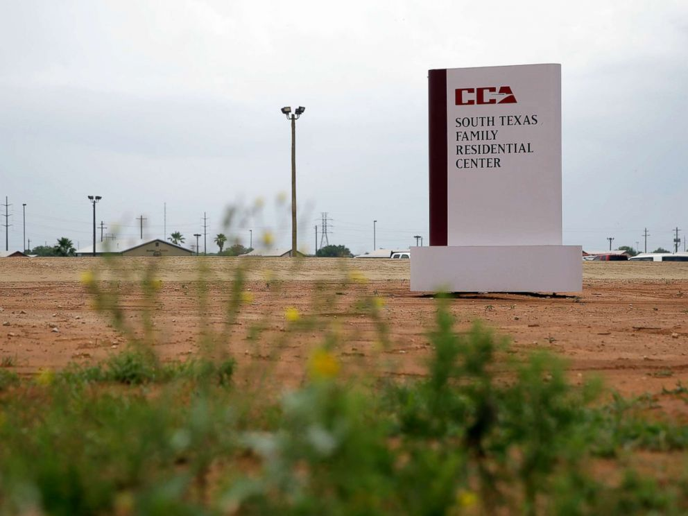 PHOTO: The sign to the entrance of the South Texas Family Residential Center in Dilley, Texas, is seen June 30, 2015.