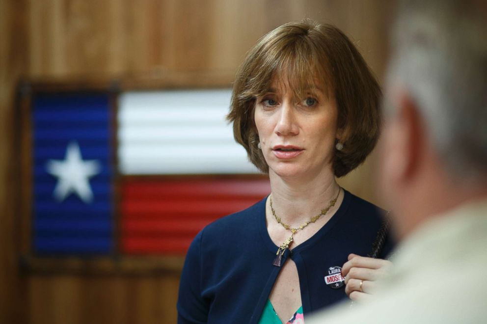 PHOTO: Laura Moser picking up her campaign materials at a print shop in Houston, Texa, May 22, 2017. Moser is running for the 7th Congressional District in Texas currently occupied by Republican John Culberson.