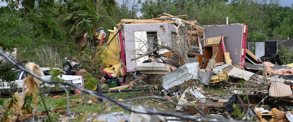 PHOTO: More than 30 homes were damaged when severe weather struck Franklin, Texas, Saturday, April 13, 2019.