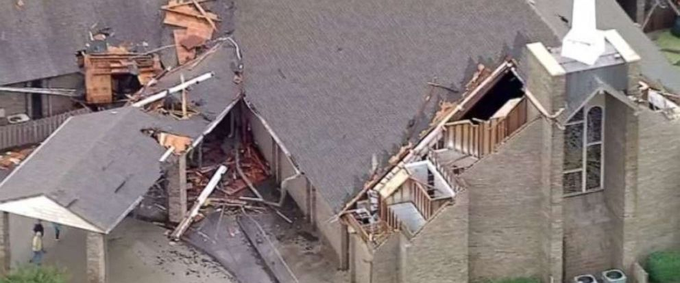PHOTO: A possible tornado ripped the roof off a church in Greenville, Texas, on Wednesday, June 19, 2019.