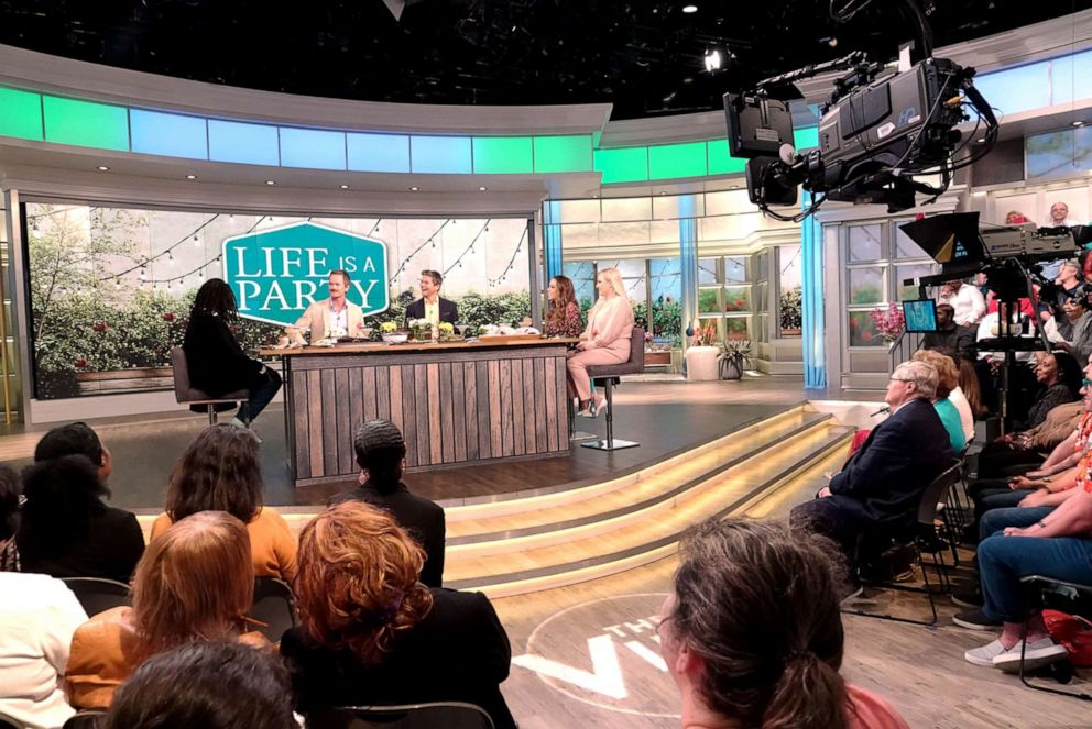 PHOTO: Neil Patrick Harris and David Burtka join The View co-hosts Whoopi Goldberg, Sunny Hostin, and Meghan McCain on Wednesday, June 12, 2019.